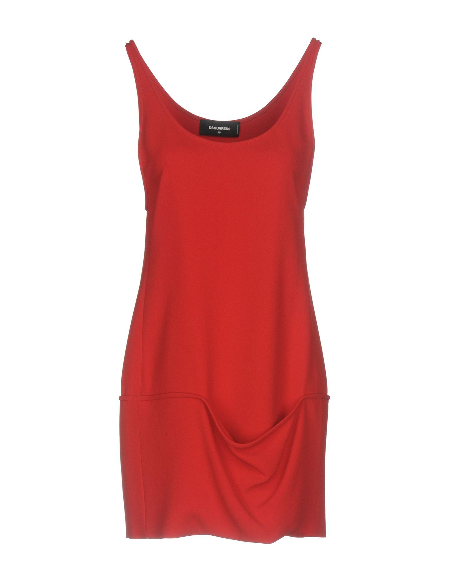DSQUARED2 Damen Kurzes Kleid Farbe Rot Größe 3 jetztbilligerkaufen