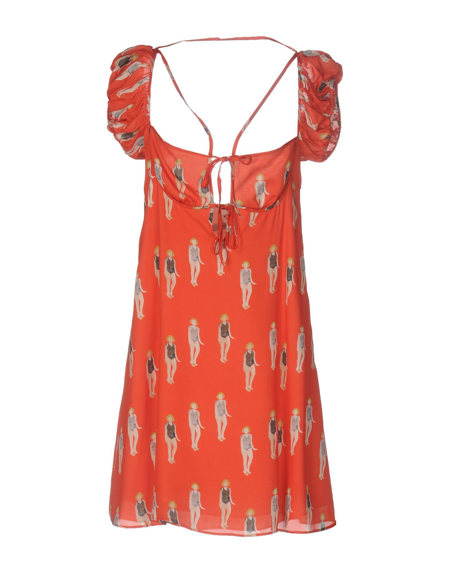 DONDUP Damen Kurzes Kleid Farbe Rot Größe 4 jetztbilligerkaufen