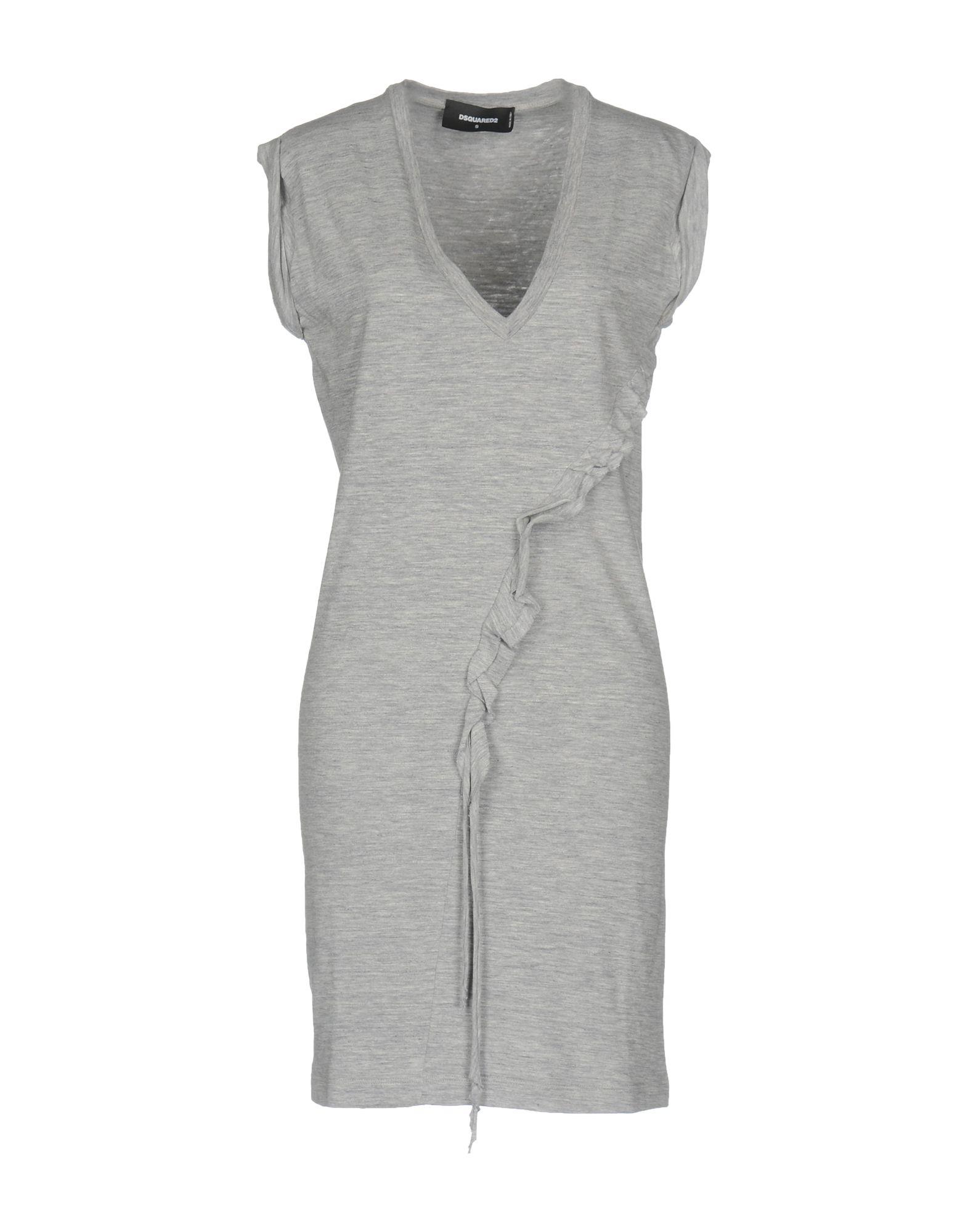 DSQUARED2 Damen Kurzes Kleid Farbe Grau Größe 7 jetztbilligerkaufen