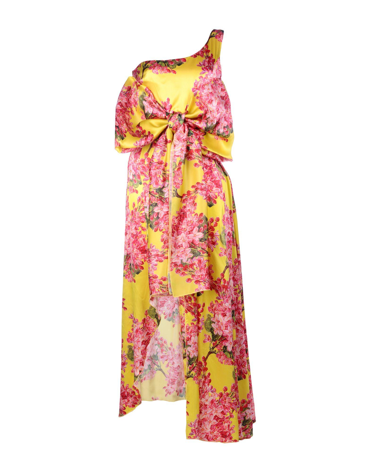 LEITMOTIV Damen Langes Kleid Farbe Gelb Größe 4
