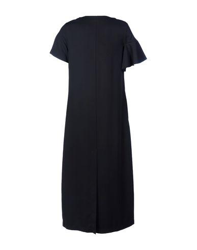 Фото 2 - Женское длинное платье WEILI ZHENG черного цвета