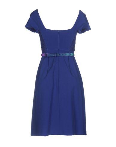 Фото 2 - Женское короткое платье VDP COLLECTION ярко-синего цвета