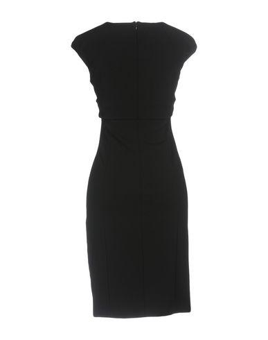 Фото 2 - Женское короткое платье VDP COLLECTION черного цвета