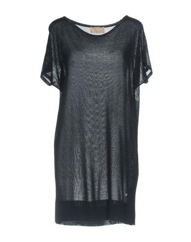 Фото - Женское короткое платье VDP COLLECTION темно-синего цвета