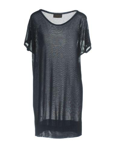 Фото 2 - Женское короткое платье VDP COLLECTION темно-синего цвета