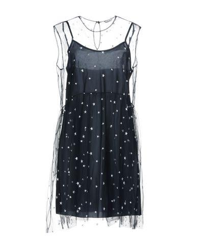 Фото - Женское короткое платье P.A.R.O.S.H. темно-синего цвета
