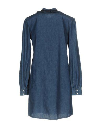 Фото 2 - Женское короткое платье VANESSA SCOTT синего цвета