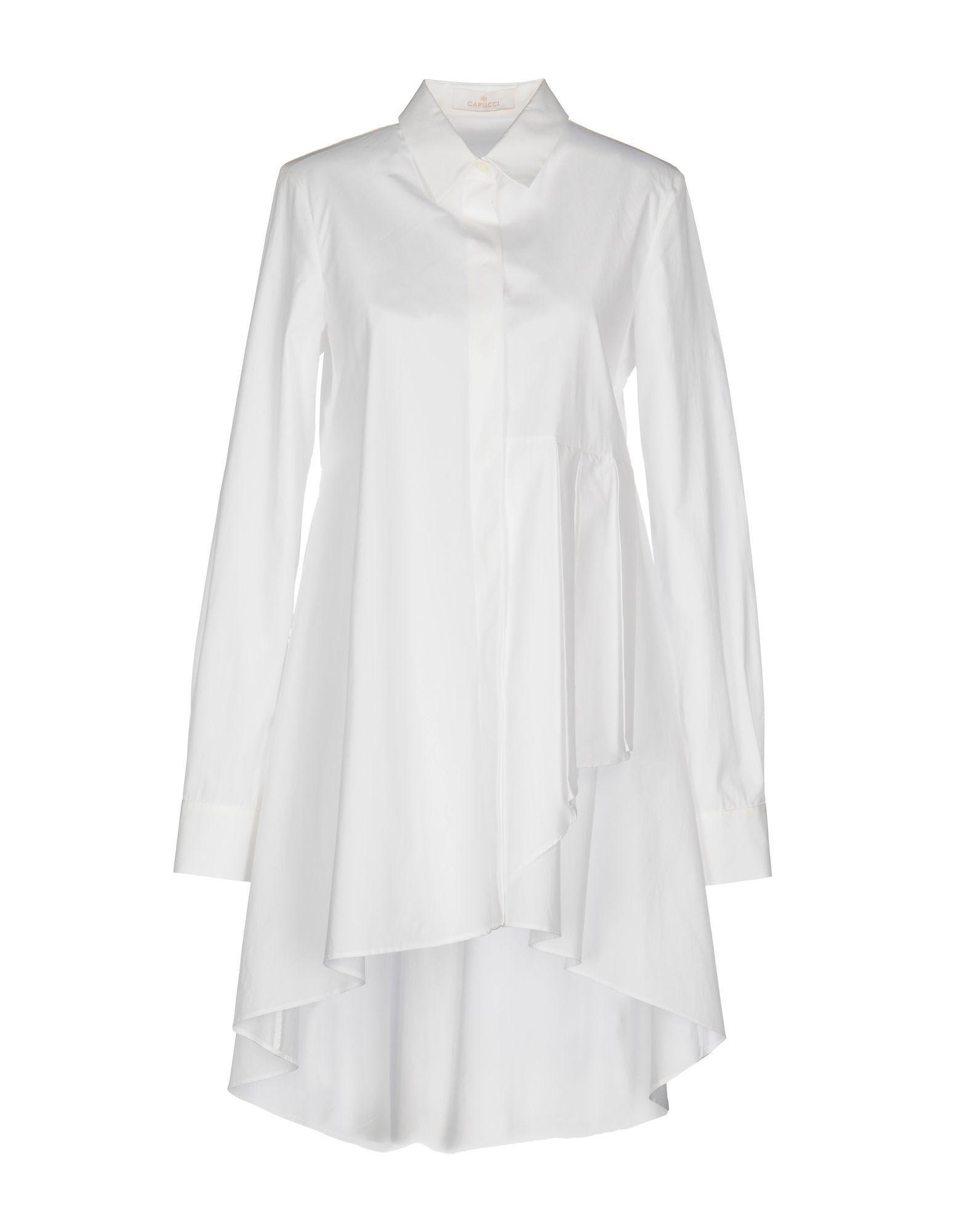 CAPUCCI Короткое платье платье рубашка fox yulia sway платье рубашка fox