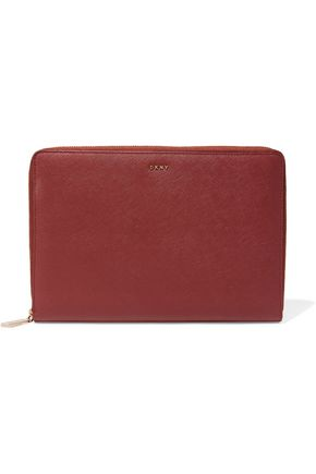 DKNY Bryant Park textured-leather pouch