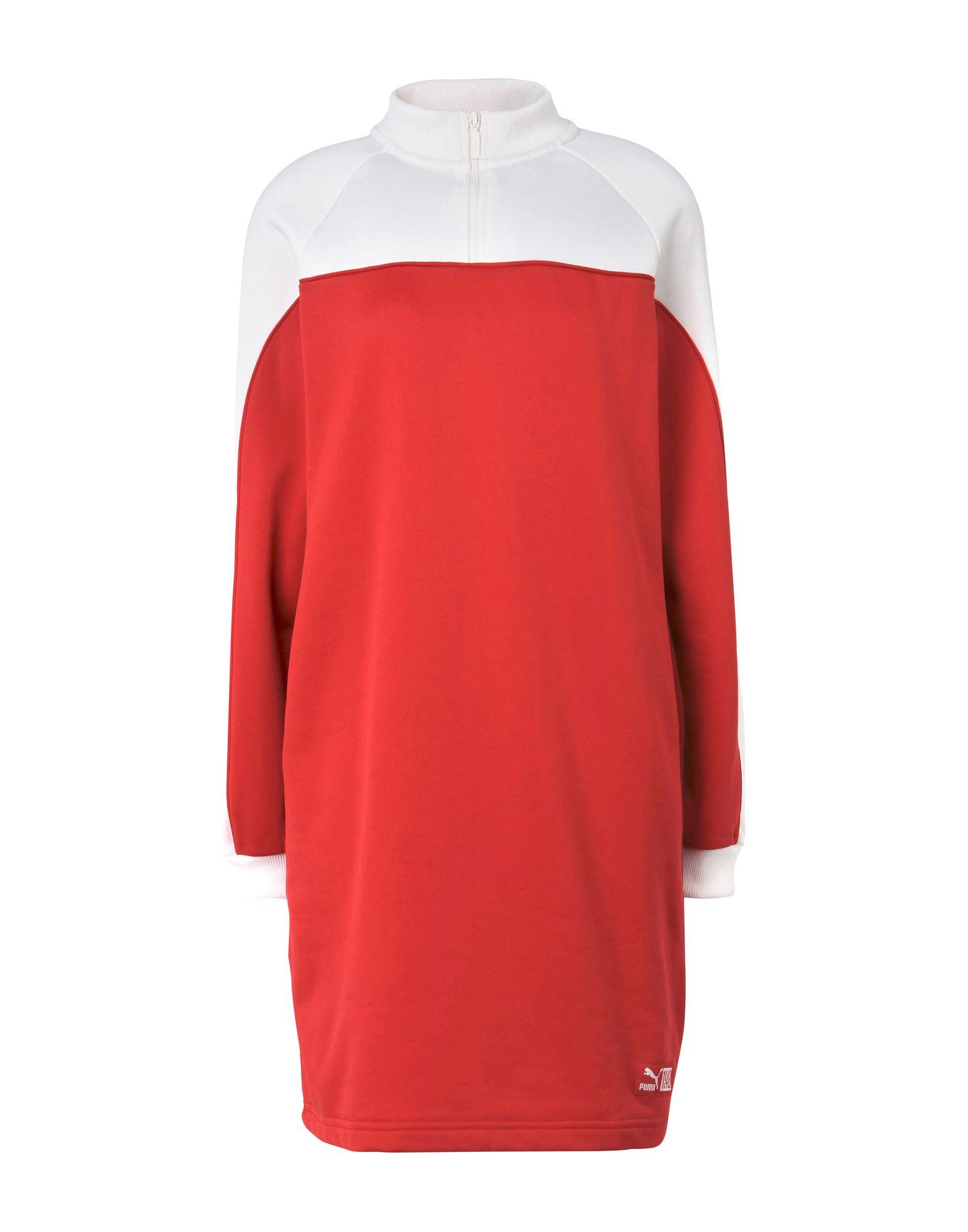 《2万円以上オーダーで送料無料》PUMA レディース ミニワンピース&ドレス レッド M ポリエステル 95% / ポリウレタン 5% TURTLENECK CREW DRESS