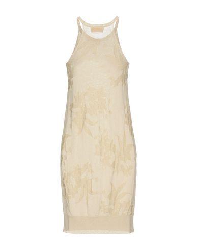 Фото 2 - Женское короткое платье VDP COLLECTION бежевого цвета