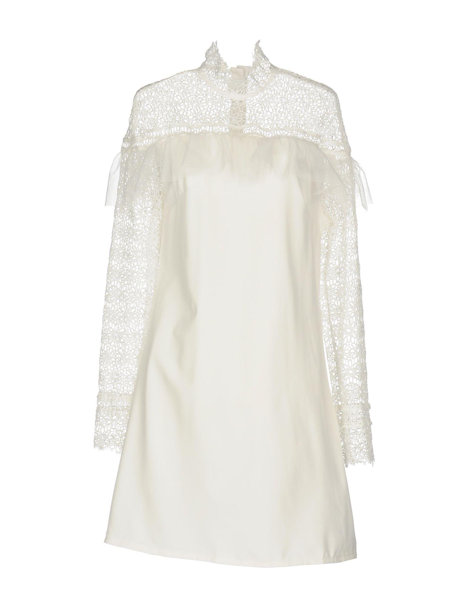VANESSA SCOTT Damen Kurzes Kleid Farbe Weiß Größe 6 - broschei