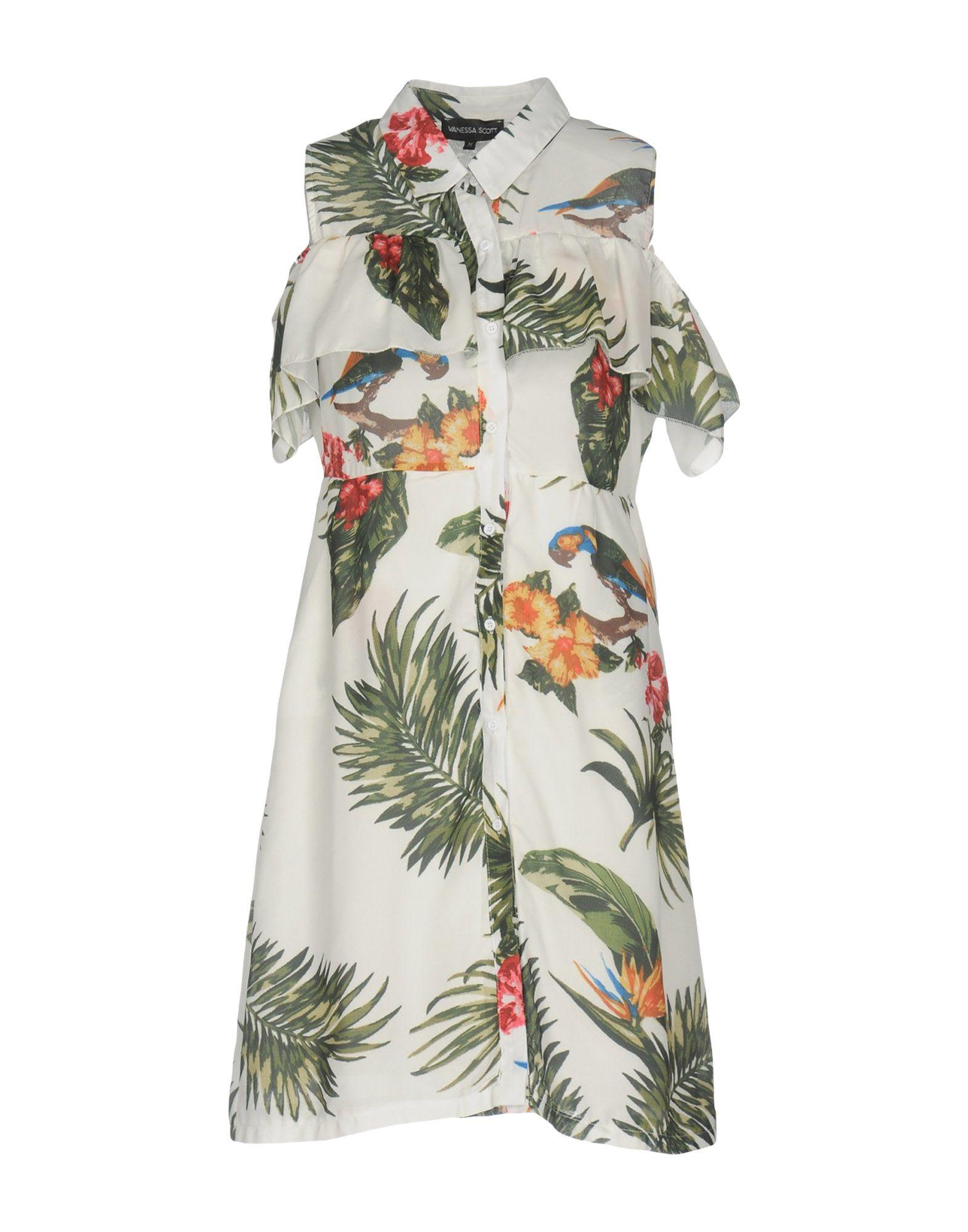 VANESSA SCOTT Damen Kurzes Kleid Farbe Weiß Größe 5 - broschei