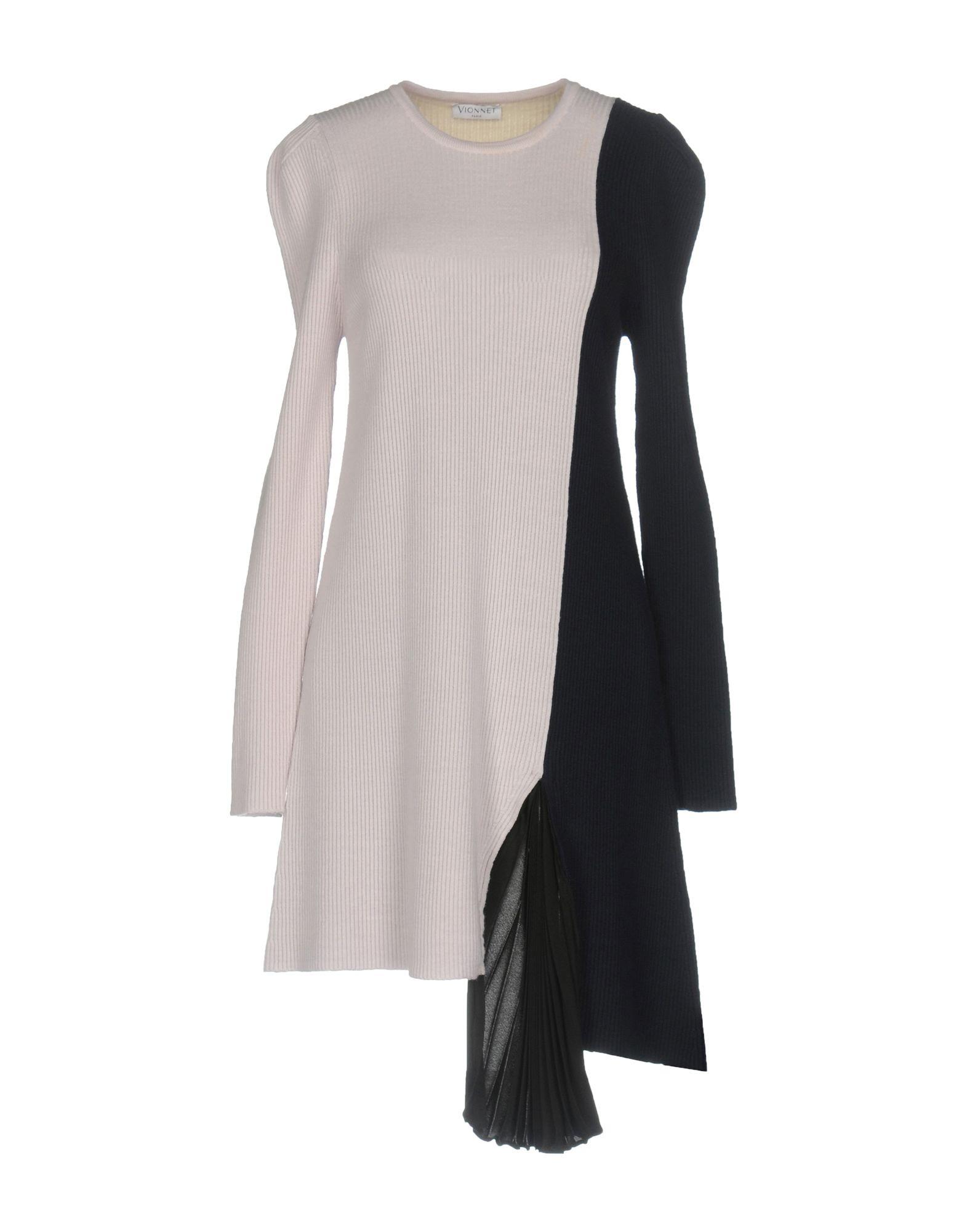 VIONNET Damen Kurzes Kleid Farbe Hellgrau Größe 3 - broschei