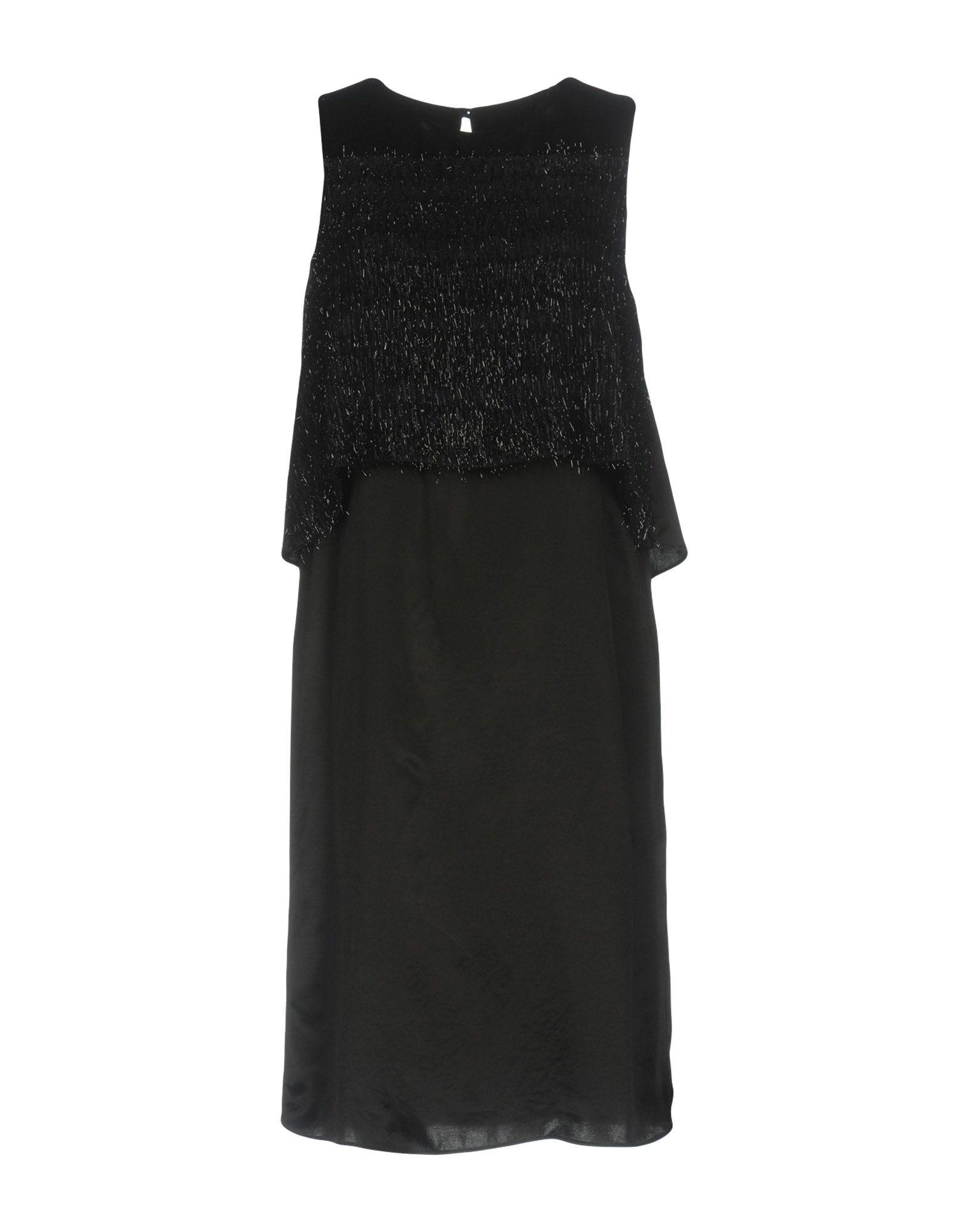 KATIA G. Damen Knielanges Kleid Farbe Schwarz Größe 6 jetztbilligerkaufen