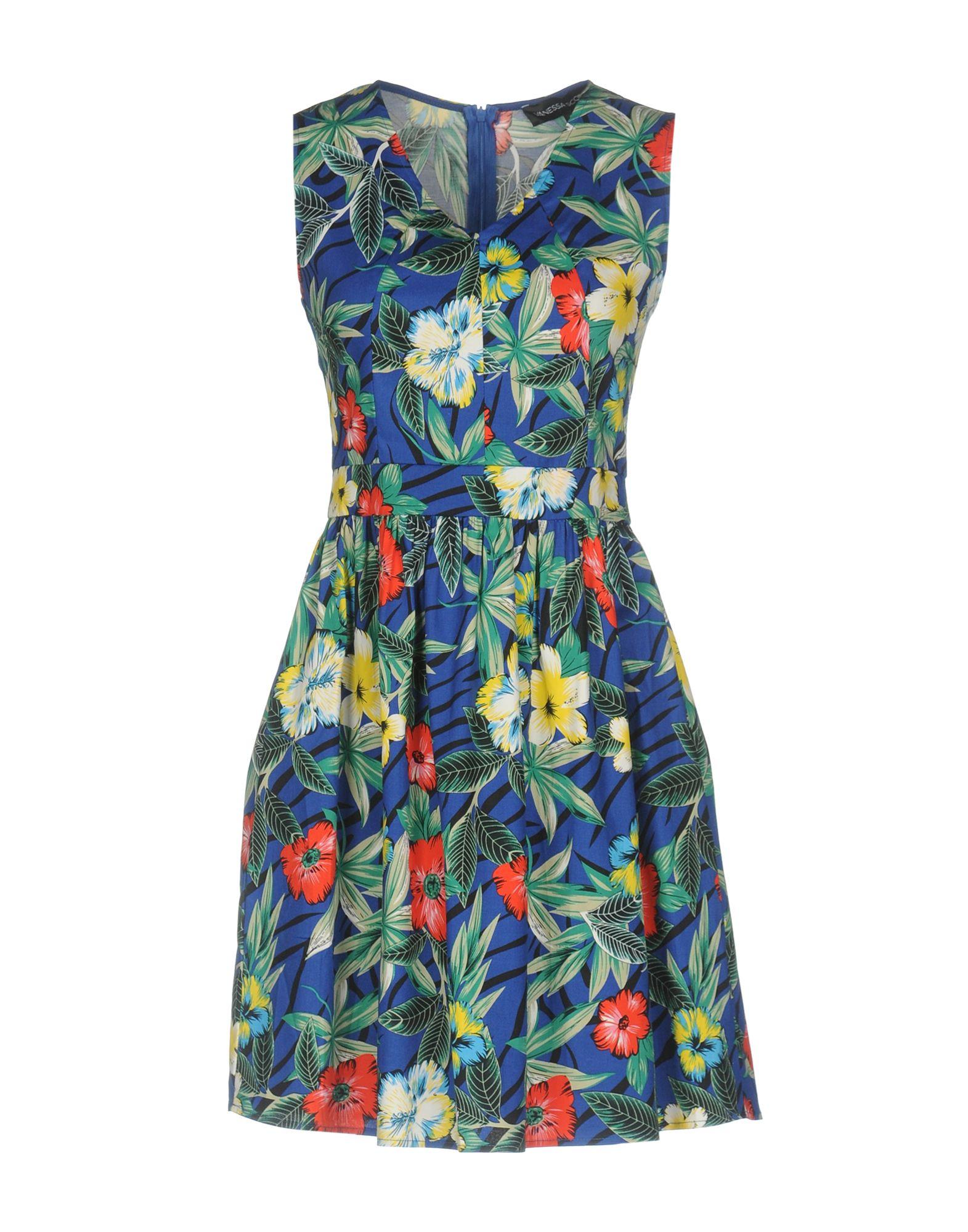 VANESSA SCOTT Damen Kurzes Kleid Farbe Blau Größe 5 - broschei