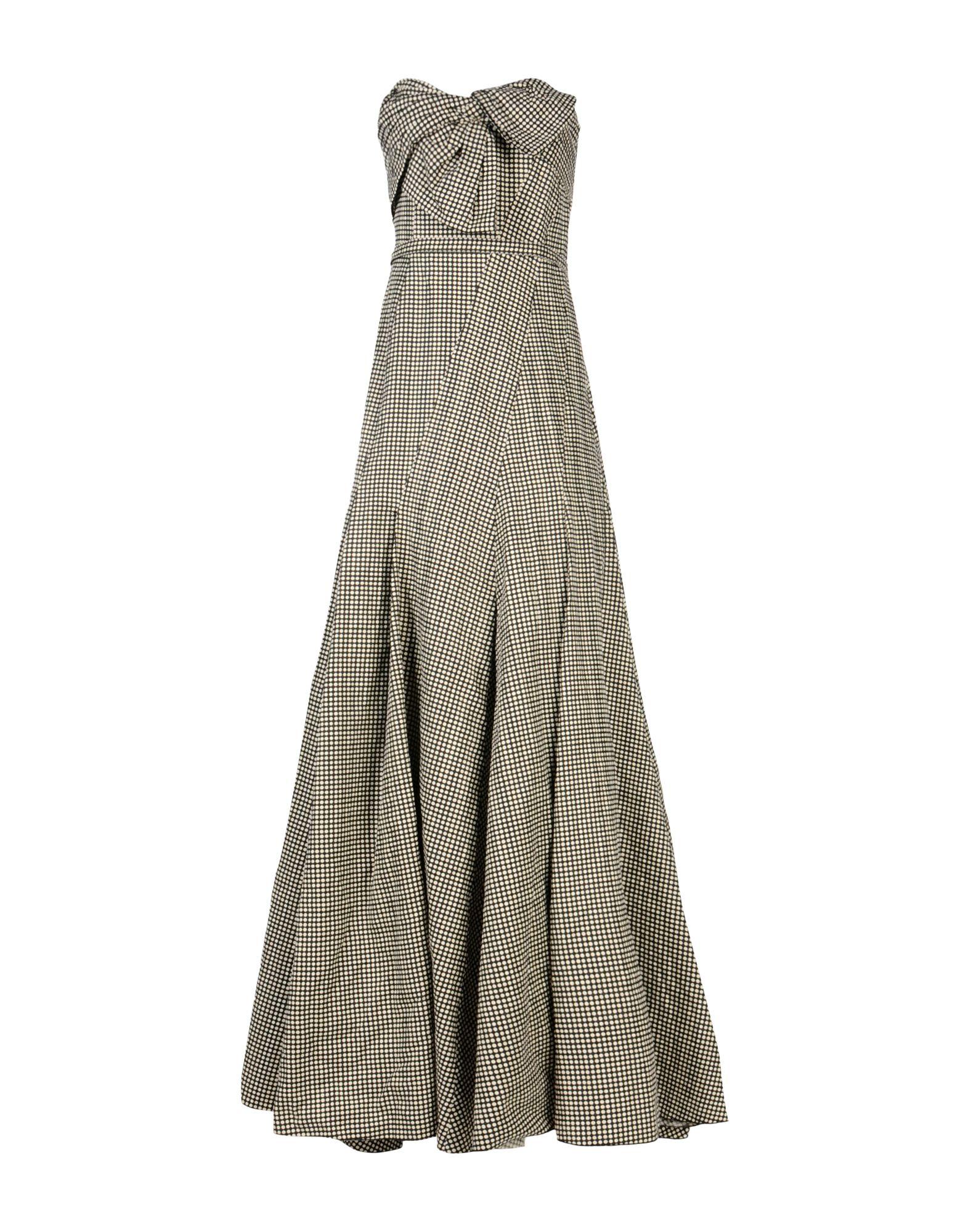 LANVIN Damen Langes Kleid Farbe Granitgrau Größe 5 jetztbilligerkaufen
