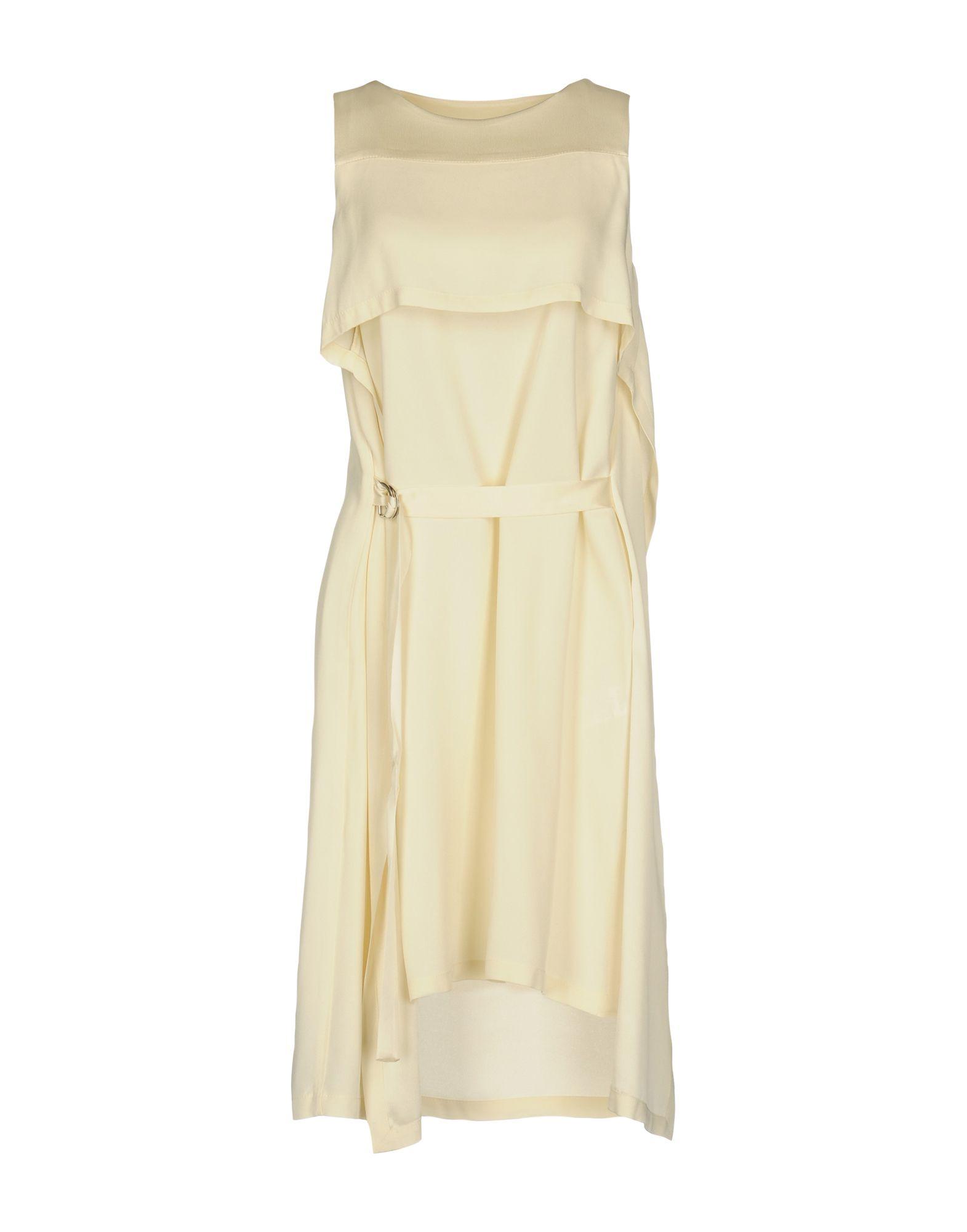 KATIA G. Damen Kurzes Kleid Farbe Elfenbein Größe 6 - broschei