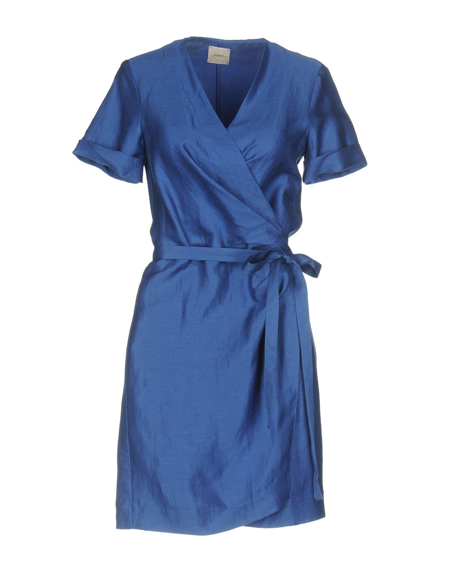 ..,MERCI Damen Kurzes Kleid Farbe Königsblau Größe 3 - broschei