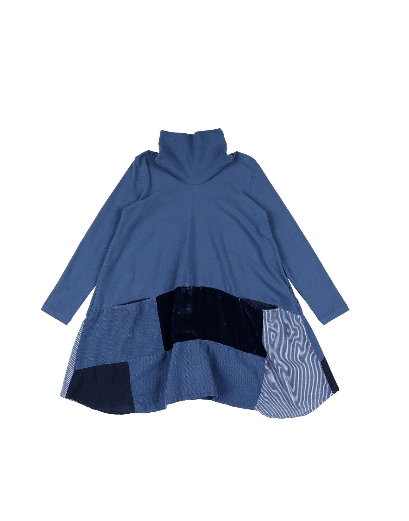 EUROPEAN CULTURE Mädchen 3-8 jahre Kleid Farbe Taubenblau Größe 4 - broschei