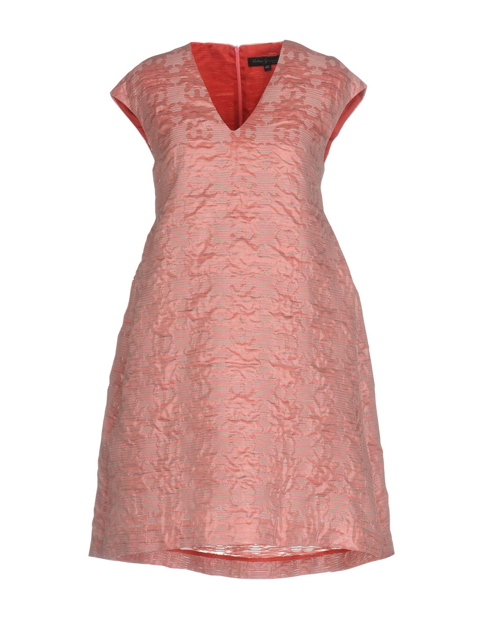 KATIA G. Damen Kurzes Kleid Farbe Rosa Größe 6 - broschei