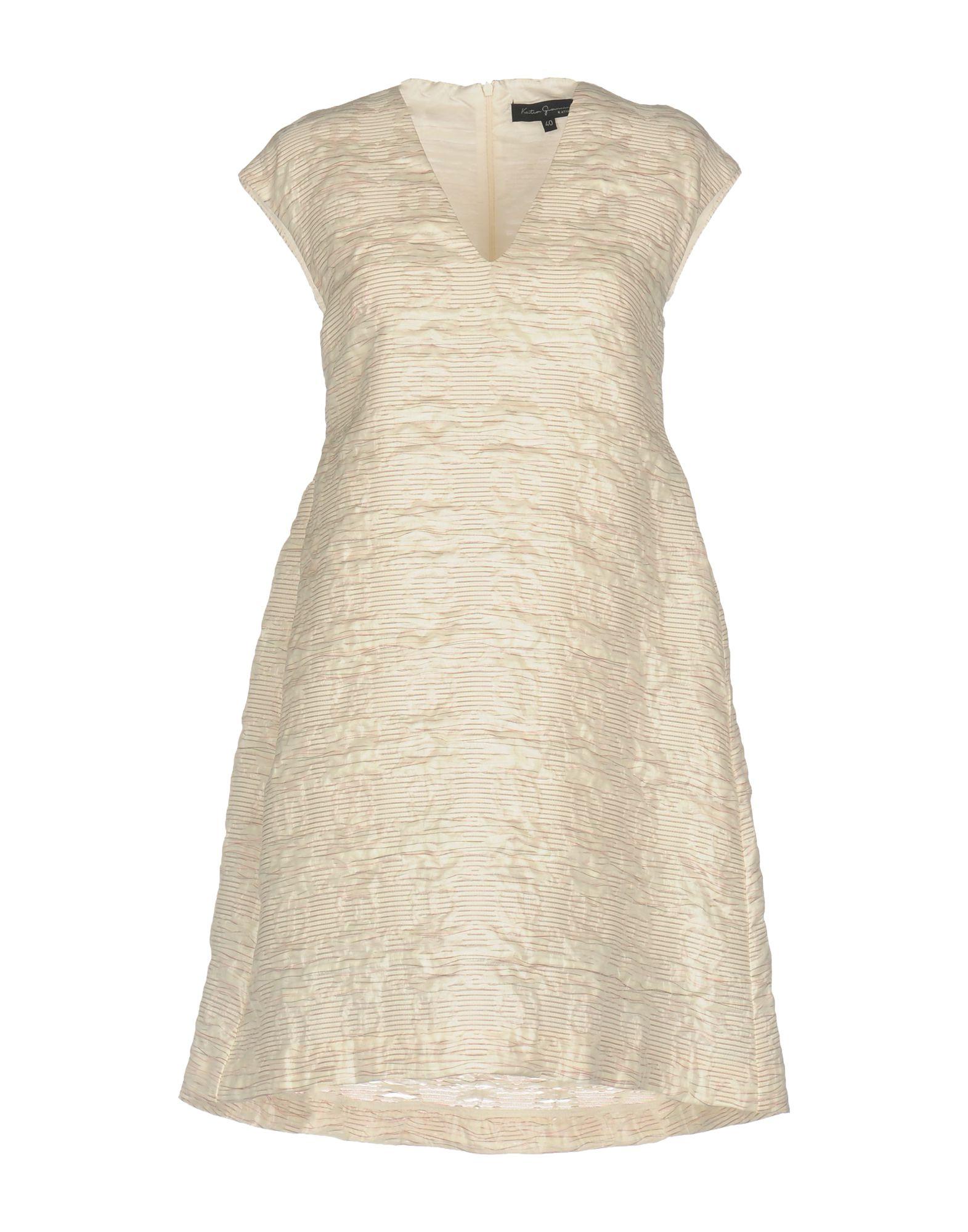 KATIA G. Damen Kurzes Kleid Farbe Elfenbein Größe 5 - broschei