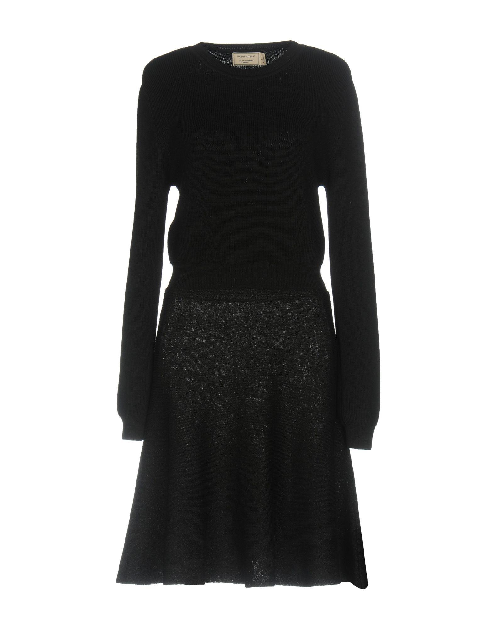 MAISON KITSUNÉ Damen Kurzes Kleid Farbe Schwarz Größe 5 - broschei