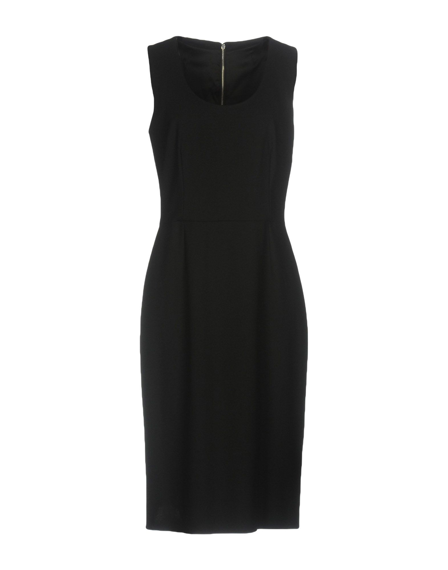 DOLCE & GABBANA Damen Knielanges Kleid Farbe Schwarz Größe 6 - broschei