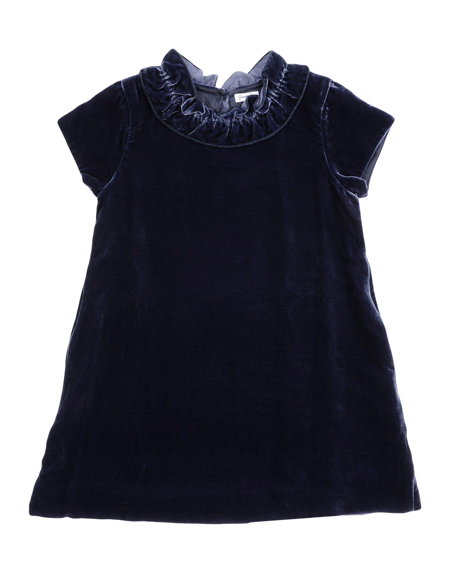 PICCOLA LUDO Mädchen 3-8 jahre Kleid Farbe Dunkelblau Größe 2 - broschei