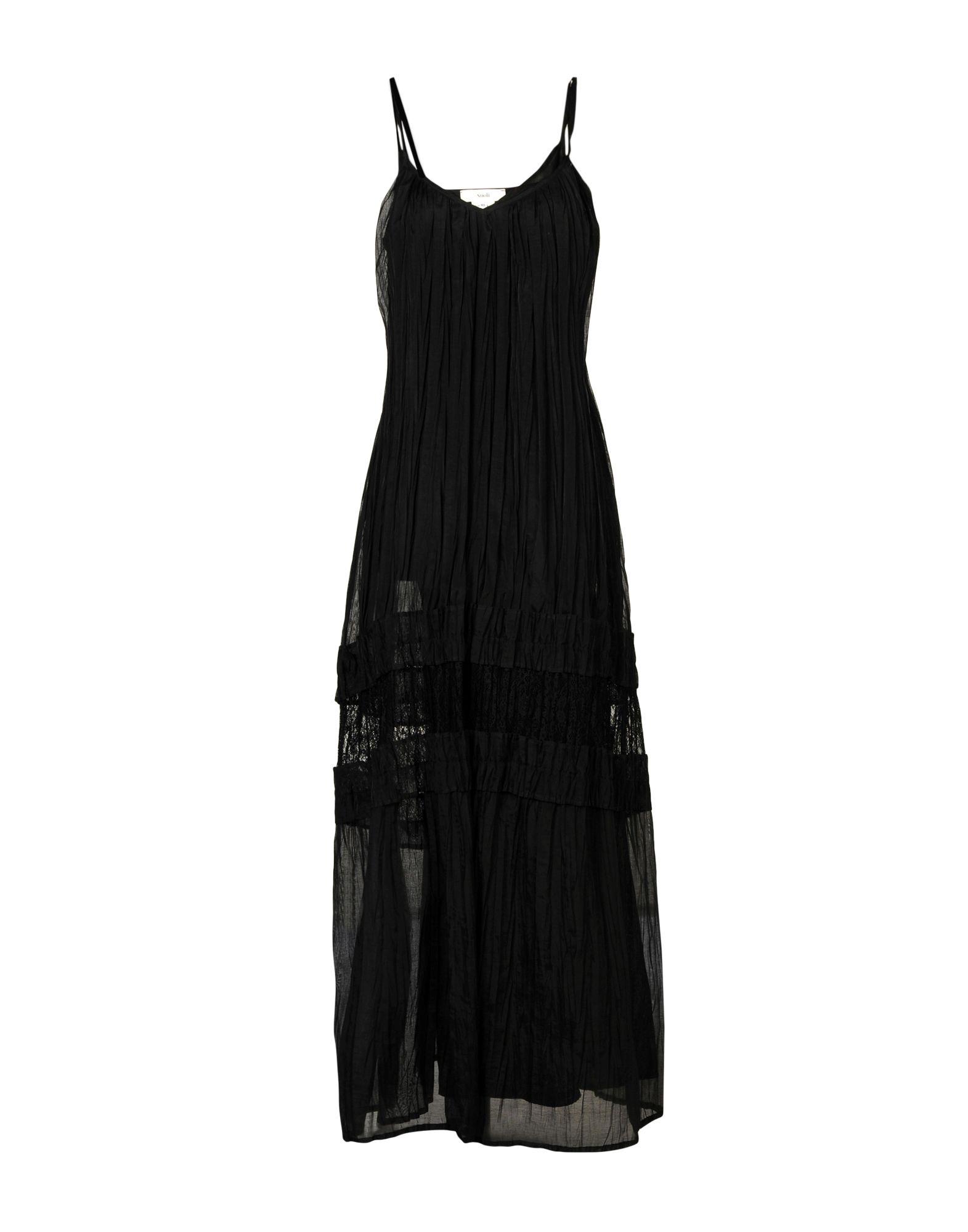 SUOLI Damen Langes Kleid Farbe Schwarz Größe 3 - broschei