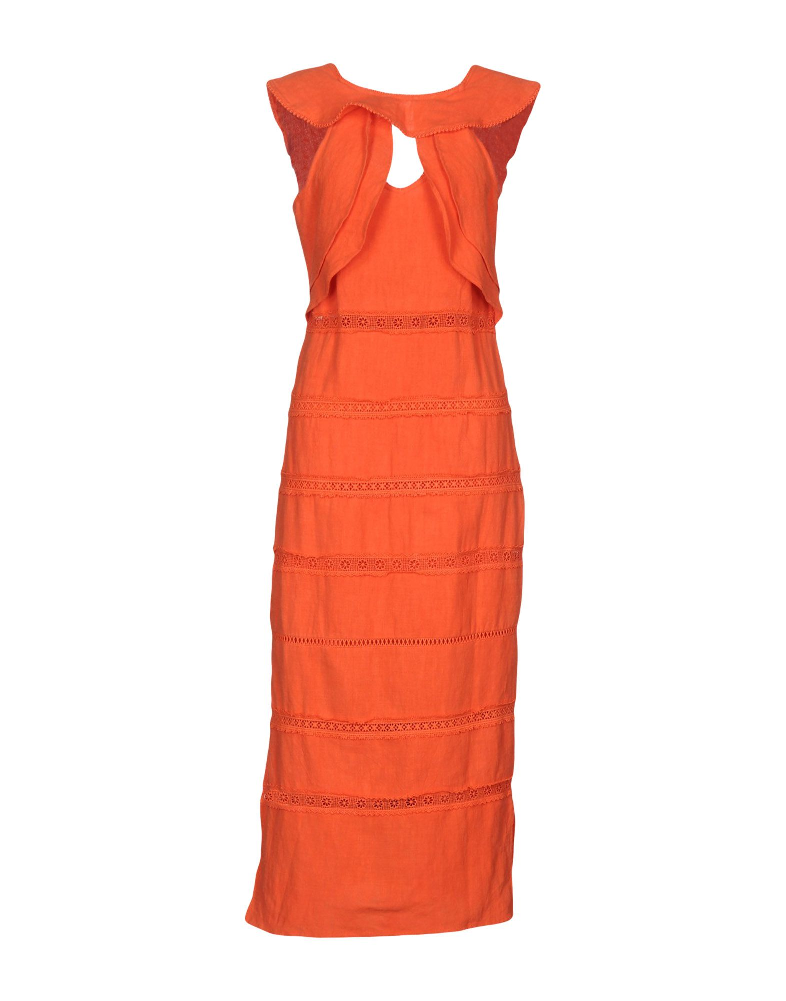 INTROPIA Damen Midikleid Farbe Koralle Größe 6 - broschei