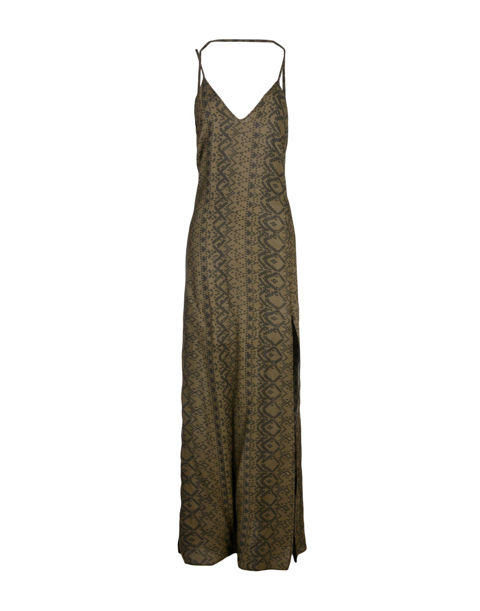 BLACK CORAL Damen Langes Kleid Farbe Militärgrün Größe 1 - broschei