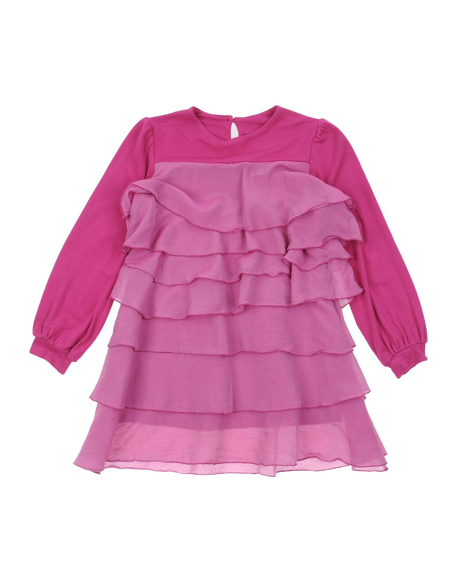EUROPEAN CULTURE Mädchen 3-8 jahre Kleid Farbe Purpur Größe 1 - broschei