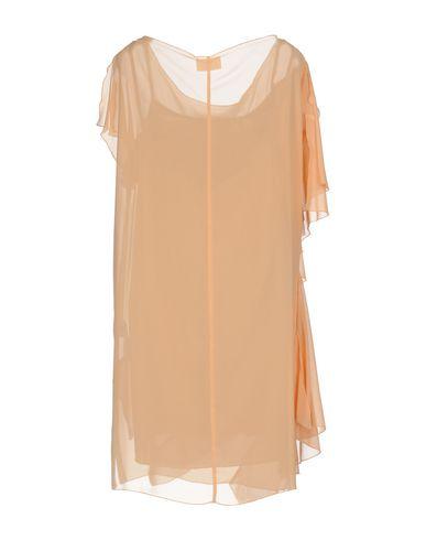 Фото 2 - Женское короткое платье  цвет абрикосовый