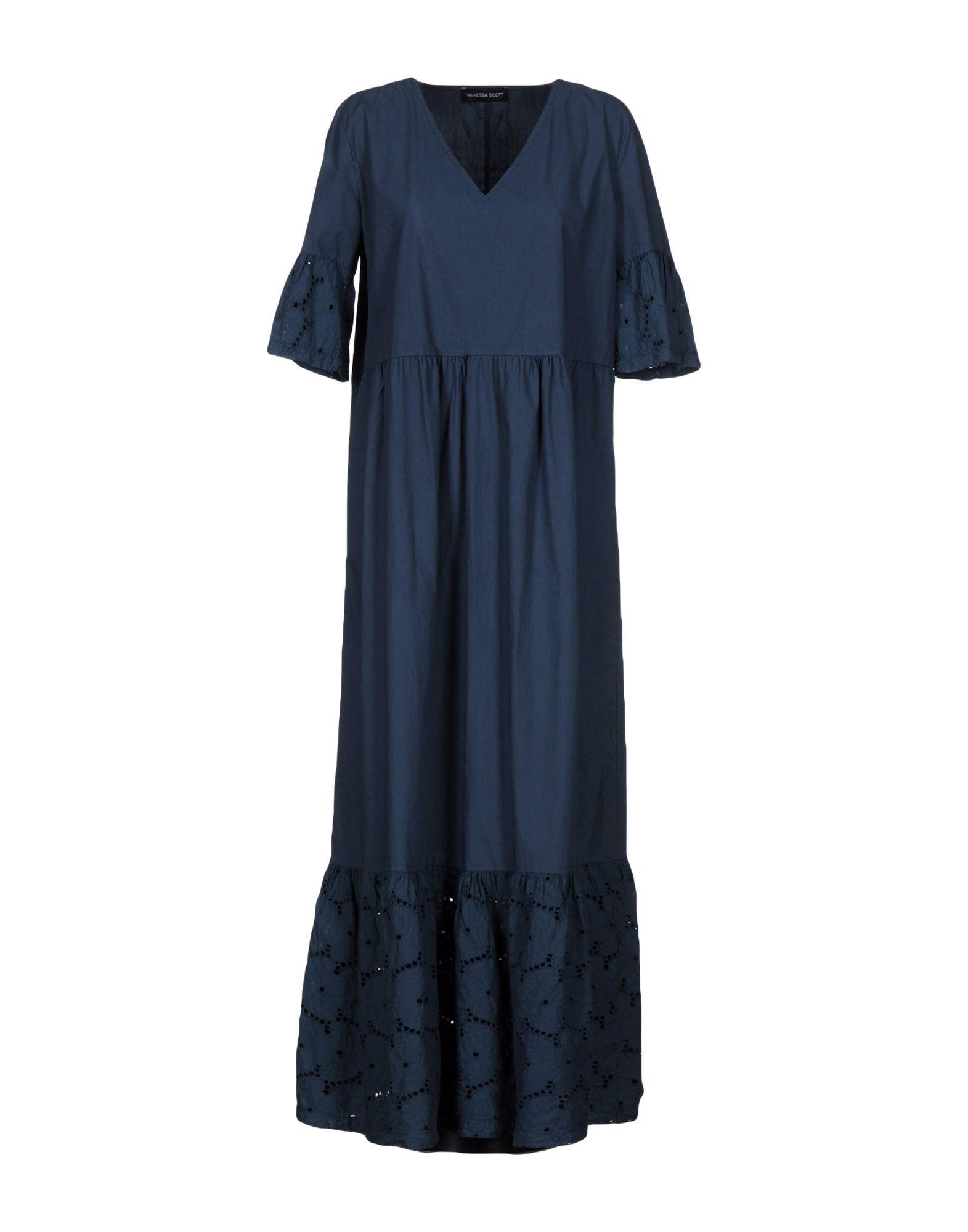 VANESSA SCOTT Длинное платье vanessa scott комбинезоны без бретелей