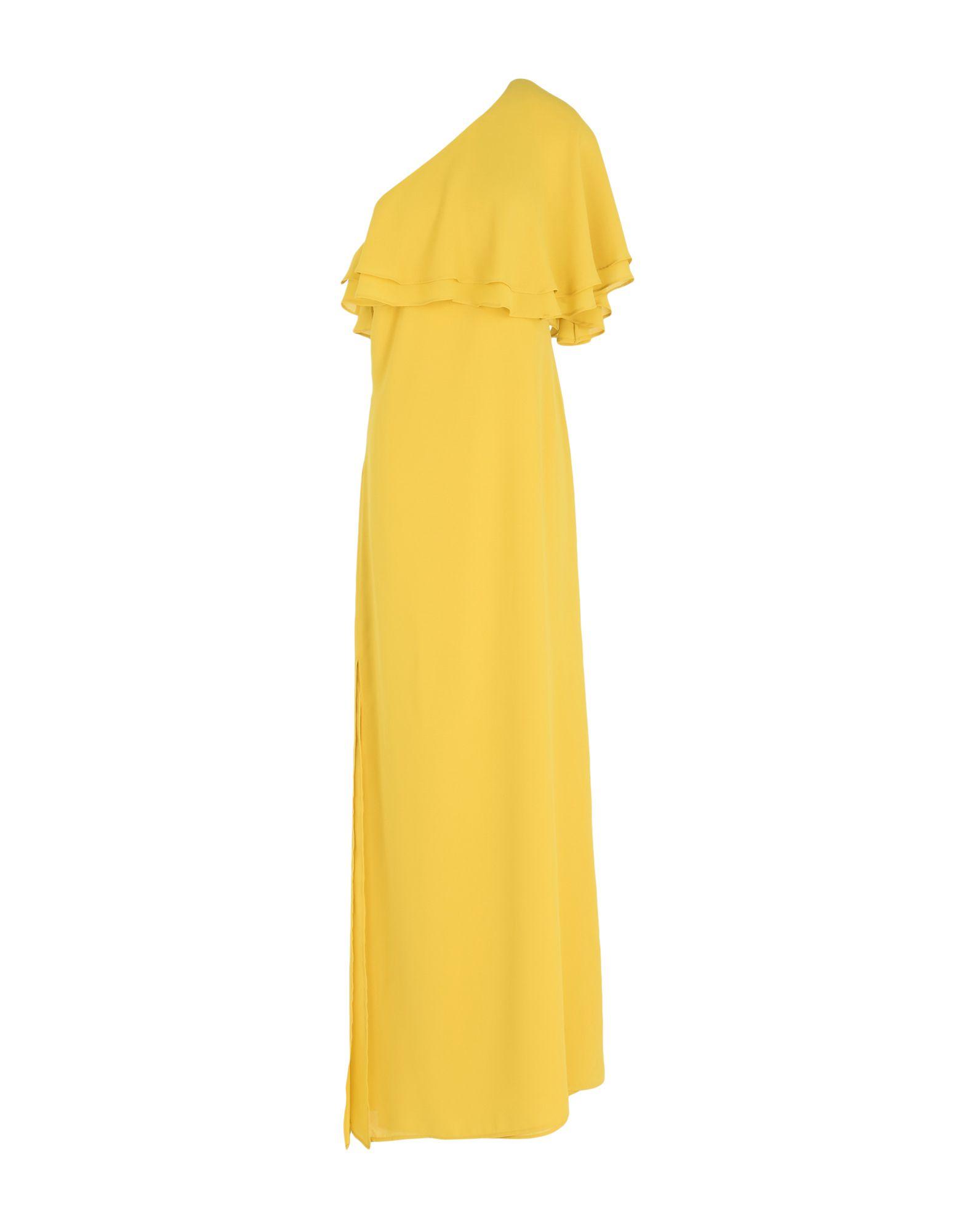 KI6? WHO ARE YOU? Damen Langes Kleid Farbe Gelb Größe 4