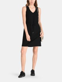 ARMANI EXCHANGE GLITTER PIECED DRAWSTRING TANK DRESS Mini dress Woman a