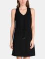ARMANI EXCHANGE GLITTER PIECED DRAWSTRING TANK DRESS Mini dress Woman f