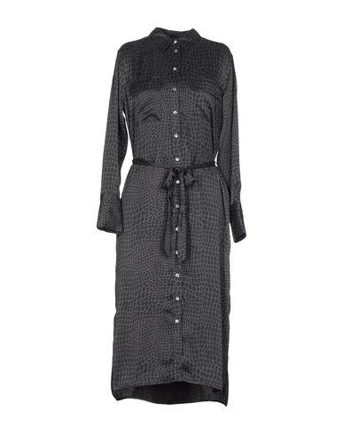 Купить Платье длиной 3/4 свинцово-серого цвета