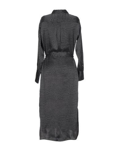 Фото 2 - Платье длиной 3/4 свинцово-серого цвета
