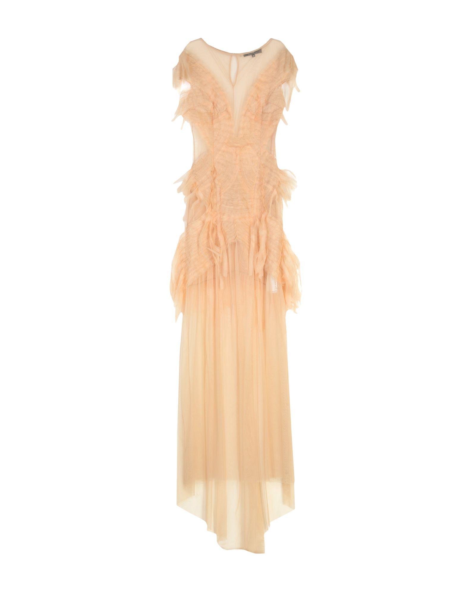 ELISABETTA FRANCHI Длинное платье elisabetta franchi платье с поясом цепочкой