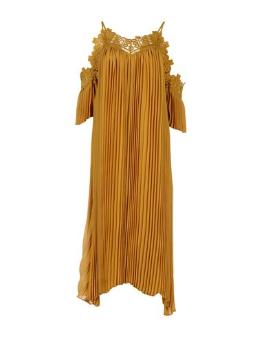 Фото - Платье длиной 3/4 от WEILI ZHENG цвет охра