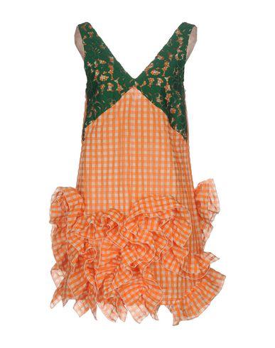 Фото - Женское короткое платье MSGM оранжевого цвета
