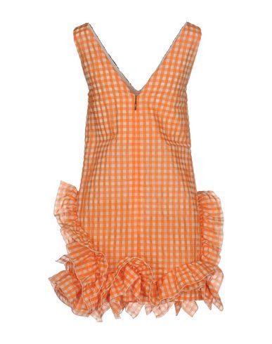 Фото 2 - Женское короткое платье MSGM оранжевого цвета