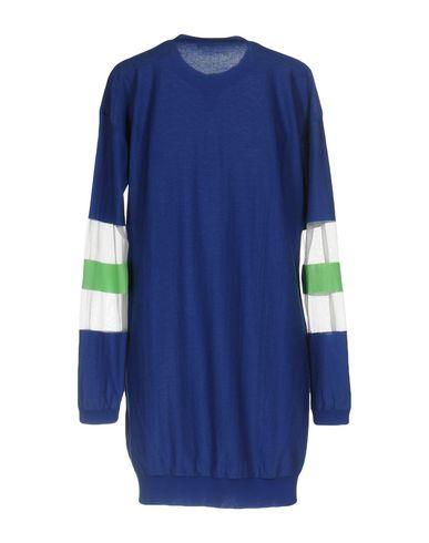 Фото 2 - Женское короткое платье  ярко-синего цвета