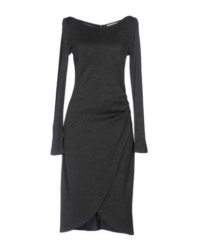 Купить Платье до колена свинцово-серого цвета