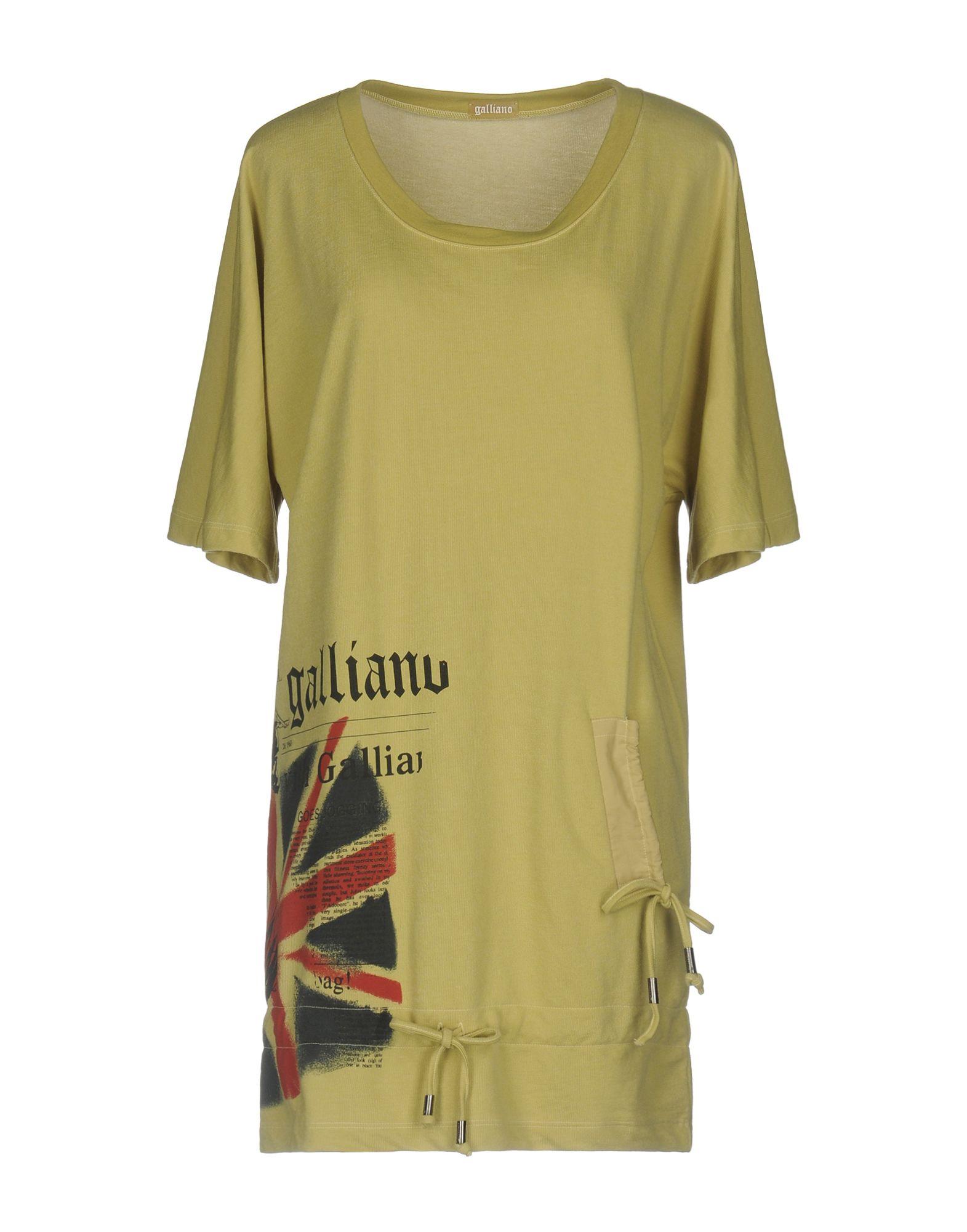 GALLIANO Короткое платье flip mustard royal blue