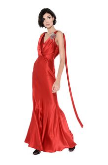 ALBERTA FERRETTI DIVA RED DRESS Long Dress D a