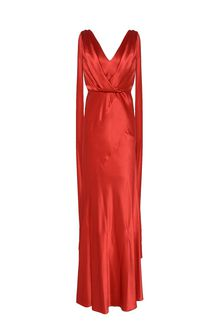 ALBERTA FERRETTI DIVA RED DRESS Long Dress D e