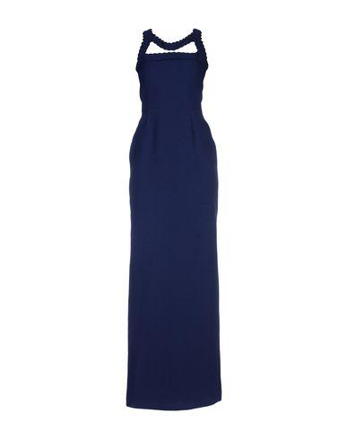 Купить Женское длинное платье ROKSANDA темно-синего цвета